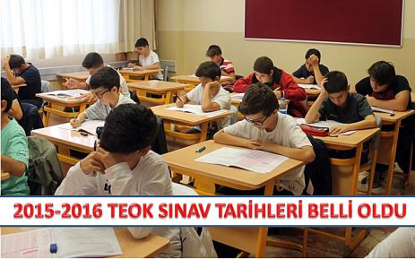 2015-2016 TEOG sınav tarihleri belli oldu