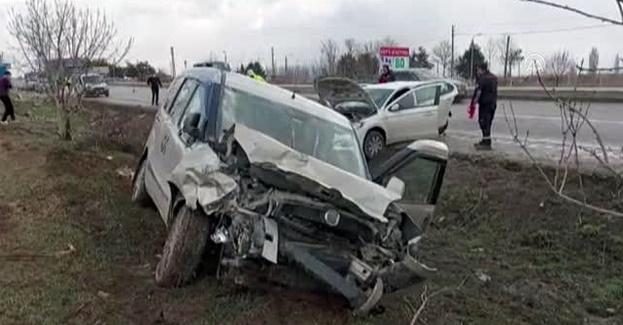Gümüşhacıköy'de Trafik Kazası
