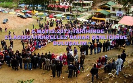 Acısu Hıdırellez Kültür Bahar şenliği 5 Mayıs'ta yapılacak.