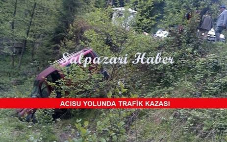 Acısu Yolunda Trafik Kazası...