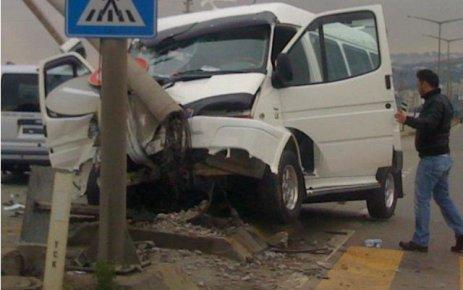 """''Akçaabat'ta kaza ucuz atlatıldı"""""""