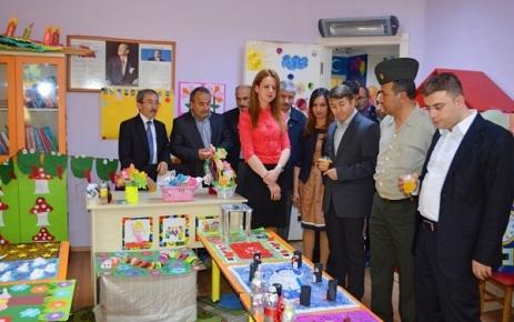 Ali İbrahimAğaoğlu Anaokulu Yıl Sonu Sergisi Açtı.
