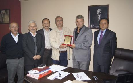Ali Öztürk'e tebrik ziyareti