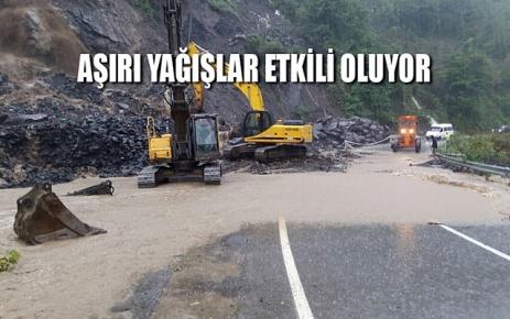 Aşırı yağışlar Karadeniz'de etkili oluyor.