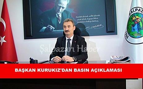 Başkan Kurukız'dan Basın Açıklaması.