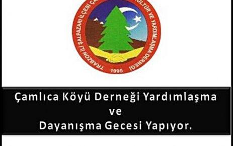 Çamlıca Köyü Dayanışma Gecesi Düzenleyecek