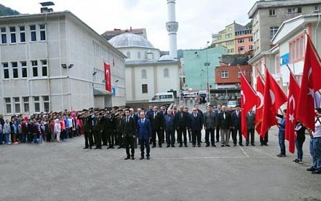 Cumhuriyetin 94. yıldönümü Şalpazarı'nda düzenlenen törenle kutlandı.