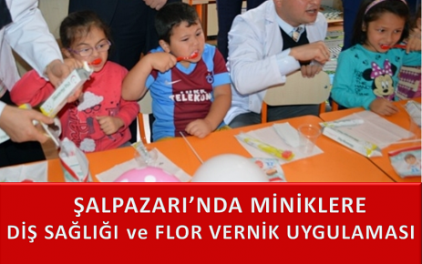 Minik Öğrencilere Diş Sağlığı ve Flor-Vernik Uygulaması Yapıldı.