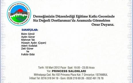 Doğancı Köyü Kültür ve Dayanışma Derneği gecesi.
