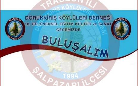 Dorukkiriş Derneği 17 Kasım 2012 Tarihinde gece düzenliyor.