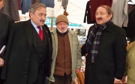 Faruk Özak Şalpazarı Esnafı'nı ziyaret etti.