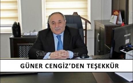 Güner Cengiz'den Teşekkür...