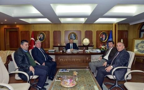 Murat Topkara Hilmi Türkmen'i ziyaret etti.