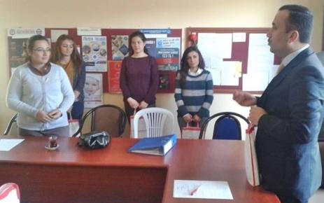 İlçe Müftüsü Yılmaz Çelik Okulları ziyaret ediyor