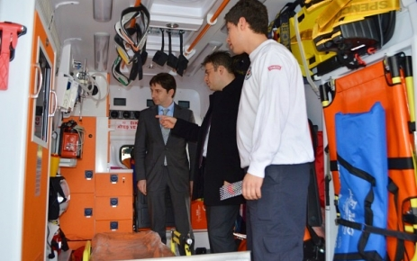 İlçemiz'de 112 Acil Sağlık Hizmetleri ve tam donanımlı bir Ambulans hizmet vermeye başladı.