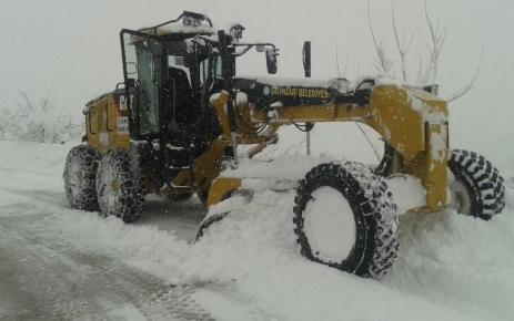 Kar Yağışı Şalpazarı'nda Etkili Oluyor.