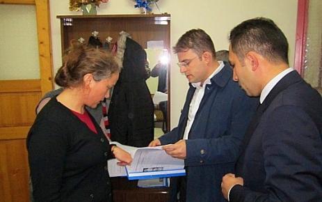 Kaymakam Yıldızhan Proje Hizmet Bürosu'nu Ziyaret Etti.