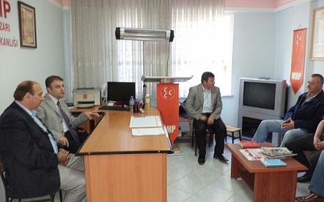 Kaymakam Zihni Yıldızhan Başkan Hasan Karabayır'ı ziyaret etti.