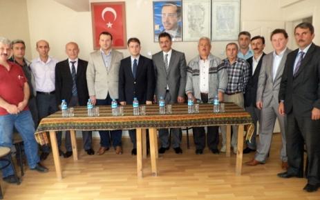 Kaymakam Zihni Yıldızhan Başkan Metin Günayı ziyaret etti.