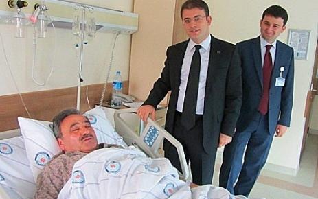 Kaymakam Zihni Yıldızhan Belediye Başkan'ı Fehmi Cengiz'i ziyaret etti.