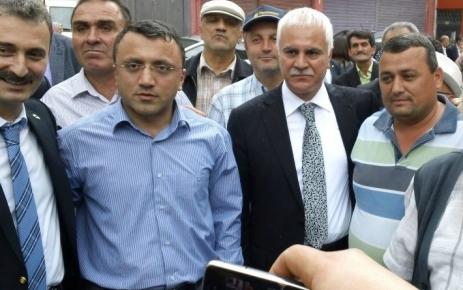 MHP Yerel Yönetimler Toplantısı Şalpazarı Atatürk İlkokulu bahçesinde yapıldı.