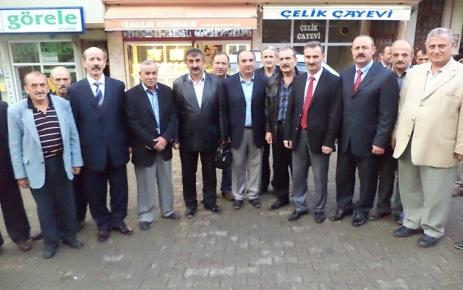 Muammer Demeli MHP Şalpazarı İlçe Başkanı Karabayır'ı ziyaret etti.