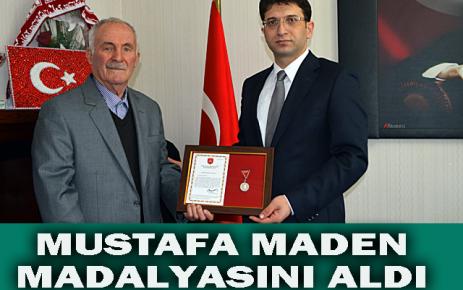 Mustafa Maden Madalyasını aldı