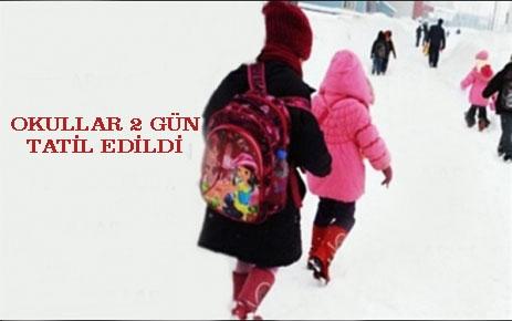 Okullar İki Gün Tatil Edildi.