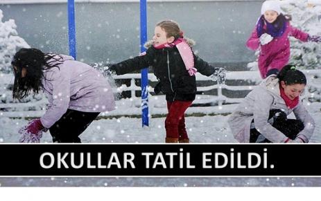 Okullar Tatil Edildi.