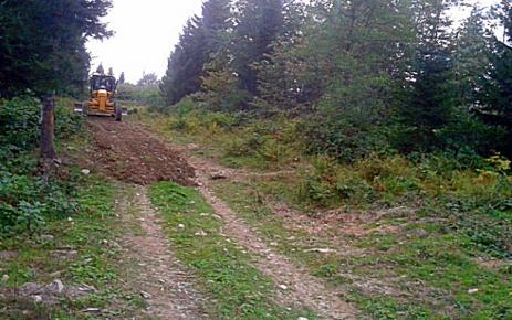 Şalpazarı Belediyesi Bölgesel Yol Çalışmalarına başlandı.