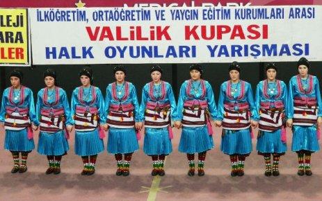 Şalpazarı ÇPL kız folklör ekibi 4. oldu.