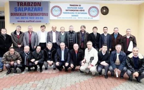 Şalpazarı Dernekler Federasyonu'ndan Şalpazarıspor'a destek.