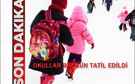 Şalpazarı genelinde okullar bir gün süreyle tatil edildi.