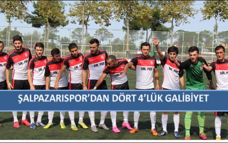 Şalpazarı Spor'dan Dört 4'lük Galibiyet.