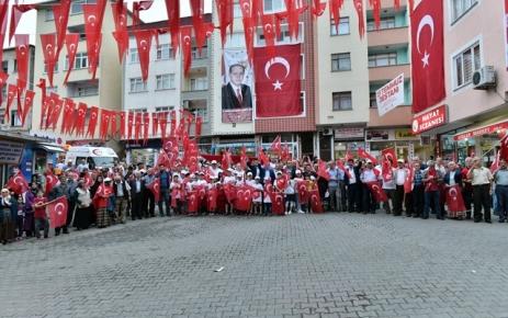 Şalpazarı'nda Milli Birlik ve Beraberlik Yürüyüşü düzenlendi.