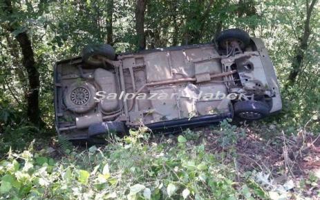 Şalpazarı'nda Maddi Hasarlı Trafik Kazası.