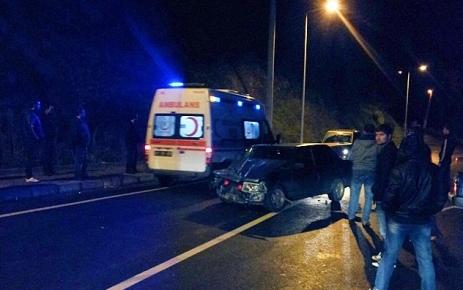 Şalpazarı'nda Trafik Kazası.