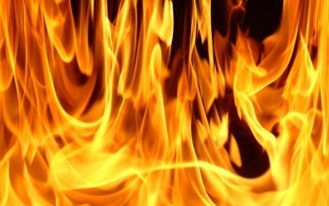 Şalpazarı'nda yangın.