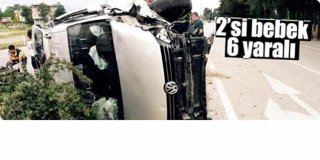 Terme'de ki Trafik Kazasında 6 kişi yaralandı