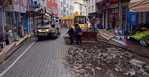 Şalpazarı'nda caddeler yenileniyor