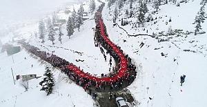Sis Dağı#039;nda 5000 kişi Sarıkamış...