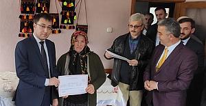Kursiyerler sertifikalarını aldı