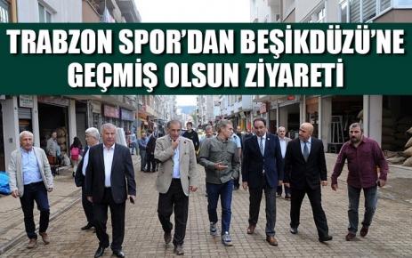 Trabzon spor'dan Beşikdüzü'ne geçmiş olsun ziyareti