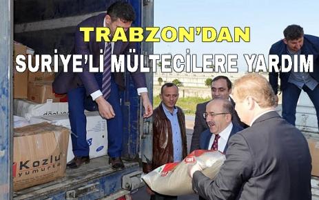 Trabzon'dan Suriyeli mültecilere yardım