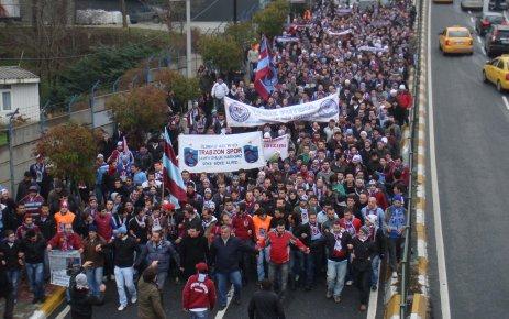 Trabzonsporlular yürüdü...