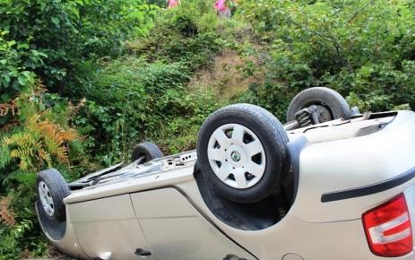Üzümözü Köyünde Trafik Kazası.