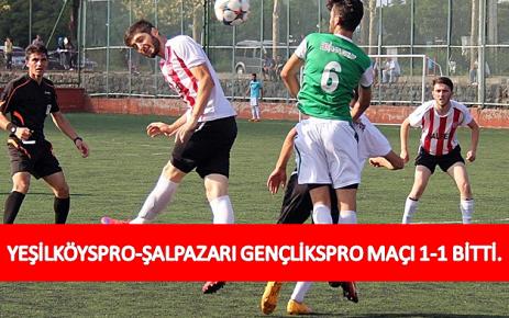 Yeşilköyspor-Şalpazarı Gençlikspor Maçı 1-1 Bitti.